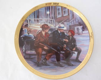 Star Trek plate vintage collectible A Piece of the Action 20th Anniversary plate Captain Kirk