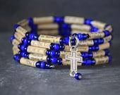 Bible, faith bracelet, faith jewelry, Christian jewelry, Christian bracelet, cross bracelet, Bible verse bracelet, recycled book, King James