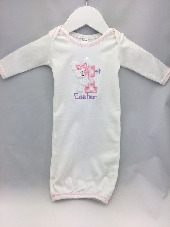 Adorable Long Sleeve Baby Gown for your little girl's First Easter