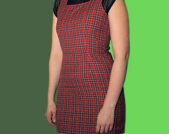 90s Classic Plaid Schoolgirl Mini Dress