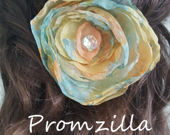 Hair Flower, Prom Hair Flower, Prom Hairpiece, Wedding Hair Flower, Wedding Hair Piece, Handmade Hair Flower, Prom 2017, flower hair clip