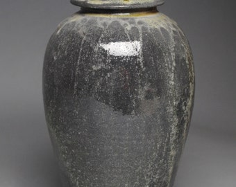 Clay Covered Jar Soda Fired F42