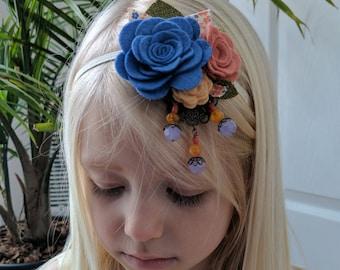 Felt Rose Headband // Upcycle, Fascinator, Adult, Child