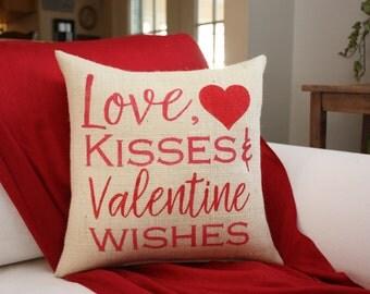 Valentine Pillow!  / Burlap pillow / Valentine Decor / Valentines Day