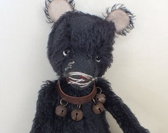 Sad Bear - Plush Vintage-Style Teddy Bear - mohair - distressed and aged - handmade - cuddly - MADE TO ORDER