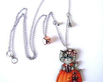 My cat is a princess, cat pendant,cat necklace, cat jewellery, cat gift, cat lady, romantic necklace, romantic pendant, kawaii jewellery