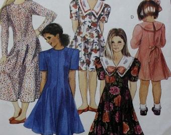 Girls Fitted Dress Pattern/ McCalls 6251 /Sewing Pattern