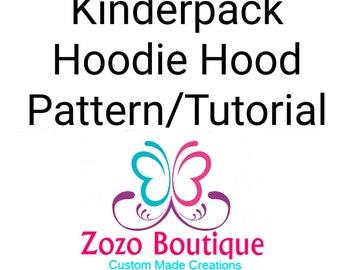 Kinderpack Hoodie Hood Pattern and Tutorial - Basic