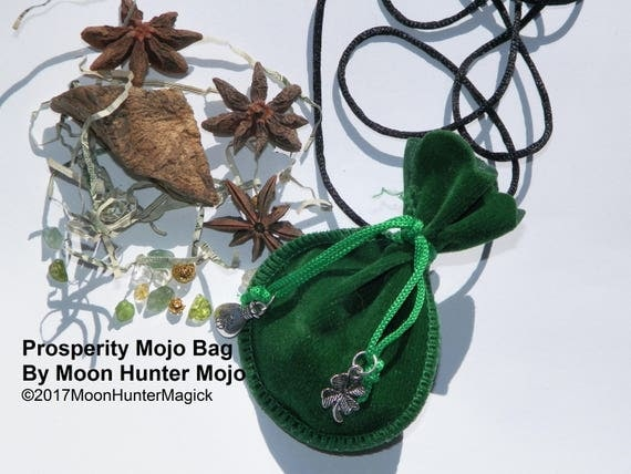 Prosperity Mojo Bag Moon Hunter Mojo Lucky Gambling Hand Made Money Drawing Charm