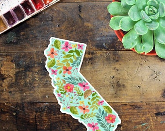 California Sticker Decal - Car Decal - Outside Sticker - Laptop Sticker - Window Decal - Notebook Sticker - Phone Sticker - State Love