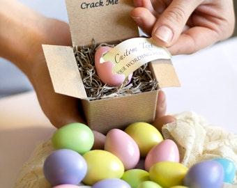 Crack Me! Pregnancy Announcement Egg - Gender Reveal - Baby Shower Invitation - Custom Unique - Grandparents - Father's Day Boy Girl Summer