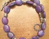 Purple Mohave Turquoise necklace, Kingman Turquoise necklace, Genuine Turquoise necklace,  Purple Mojave Turquoise, Purple Kingman, genuine