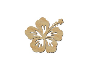 Hibiscus Flower Wood Shape Cutout Variety of Sizes  Artistic Craft Supply