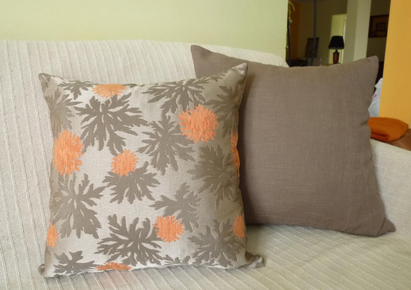 Taffeta chenille fabric decorative throw pillow 18x18 inches - Fabric for throw pillows ...