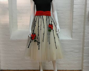 vintage tulle party skirt // 1950s