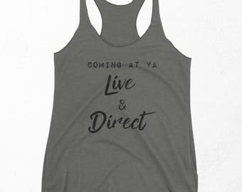 Sassy Shirt, Funny Gym Tank Top, Fitness Gifts, Tumblr Workout Shirt, Best Friend Gift For Her, Exercise Racerback Tank