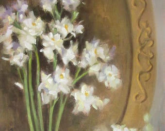 Paperwhites...Original Oil Painting by Maresa Lilley, SND