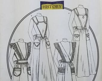 Misses' Historic Aprons Pattern. Uncut. All Sizes Included. Butterick 4042.