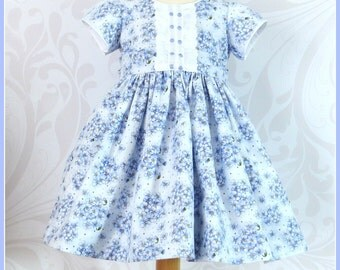 Baby Girl Dress, Easter, Spring, Size 18 Months, Fully Lined, Vintage Inspired, Ready to Ship, Special Occasion, Gorgeous Hydrangea Print