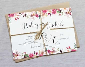 Wedding Invitations Elegant Modern. Alisha Danu0027s Elegant ...