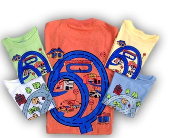 Matching Play Cars T-Shirt for Dads and Sons as Christmas Gifts