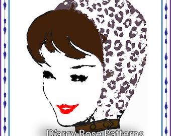 Sewing Pattern Instant Digital Pattern Vintage 1950s Reversible Ski Cap #6057 PDF