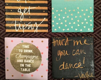 Fun Drinking Themed Coasters
