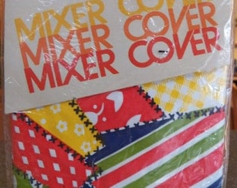 Vintage CLOPAY Mixer Cover Retro Kitchen Appliance Bright Colors 70's