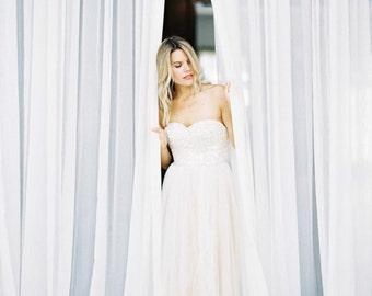 FINAL SALE Sequin Wedding Dress «Cassandra», Sequin Gown With Tulle Skirt