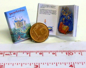 "1122# German Childrens Book ""Dornröschen"" Sleeping Beauty- with many pictures - Doll house miniature in scale 1/12"