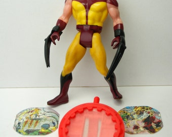 Wolverine Rare Black Claws Secret Wars Action Figure 1984 with Secret Messages and Shield