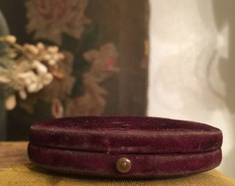 Antique Victorian velvet cased photo