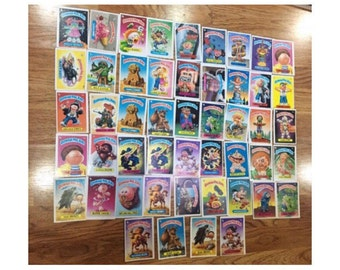 Garbage Pail Kids Cards, Garbage Pail Kids, GARBAGE PAIL KIDS Cards Stickers, Vintage 1980s Topps Chewing Gum Collectible - 49 Cards