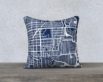 Fort Lauderdale Map Pillow Cover