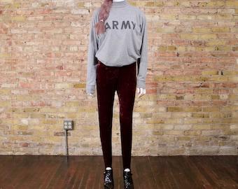velour stirrup pants / stirrup pants / 90s stirrups ups / crushed velour grunge / leggings / sporty / high waist / lounge stirrups