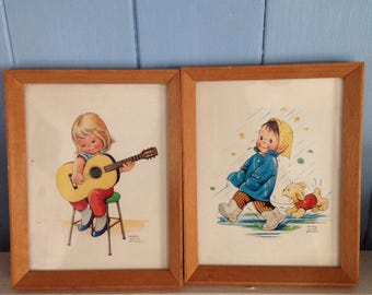 Kitsch Cute child print Mabel Lucie Attwell