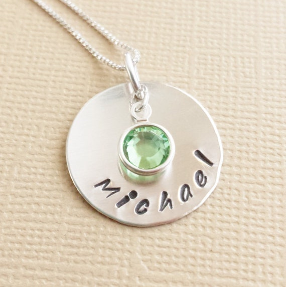 Mommy Necklace // Necklace for Mom // Necklace with Kids Names // Hand Stamped Jewelry // Personalized Necklace / Sterling Silver Jewelry