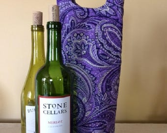 Wine Bag - Wine Tote - Wine Tote Bag - Wine Bottle Bag - Wine Gifts - Wine Gift Bag - Wine Bottle Tote - Quilted Tote Bags - Quilted Tote