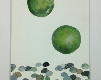 Mossballs and river rocks No. 29