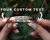 Custom Hand stamped bracelet. Custom cuff bracelet. Yoga Jewelry. Custom Jewelry.
