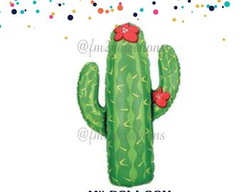 Cactus Balloon | Fiesta Party Decorations | Balloon Cactus | Mexican Fiesta | Cinco de Mayo Party | Fiesta Balloons | Taco Bout A Party