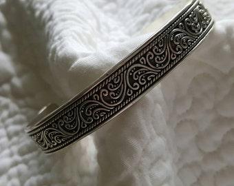 Sterling Silver Lois Hill Designer Cuff Bracelet (st - 1934)