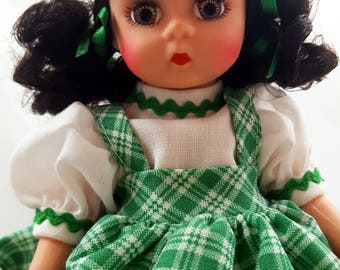 Vintage MADAME ALEXANDER Dorothy Emerald City Retired Wizard Of Oz Doll Dorothy Toto Dog Green Dress Storybook