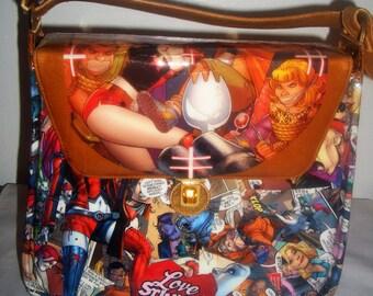 Harley Quinn Comics Upcycled Handbag Purse