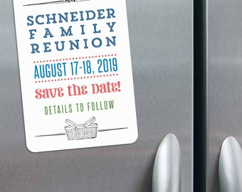 Gather Reunion - Magnet - Save the Date + Envelopes