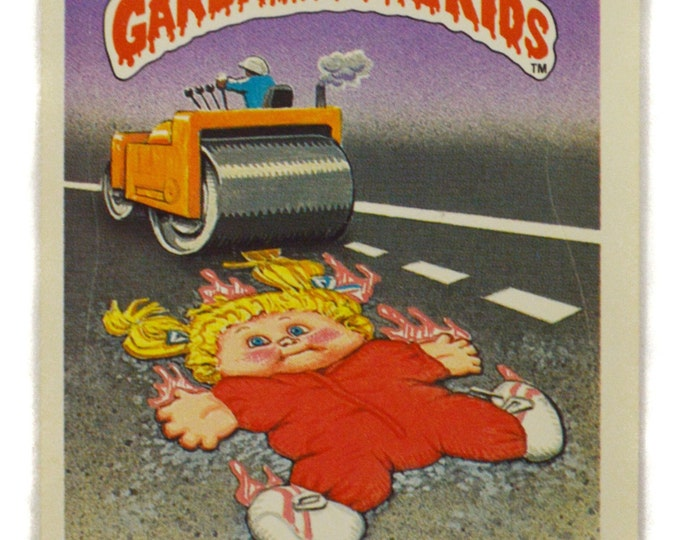 Vintage 80s Garbage Pail Kids Run Down Rhoda 31a Series 1 Collectible Sticker Trading Card