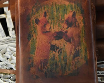Bear leather journal