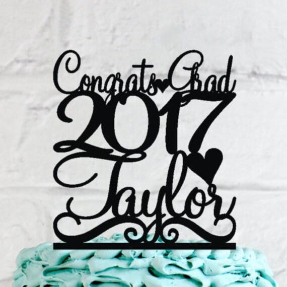 Congrats  Graduate Cake Topper Etsy