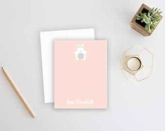 Baby Thank You Cards. Bunny Stationery. Baby Thank You Notes. Kids Stationery. Stationary. Thank You Notes. Personalized Stationery.