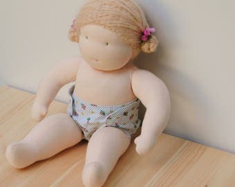 PATTERN: Doll Diaper for the Wild Marigold Waldorf Baby Doll, Instant Download, PDF